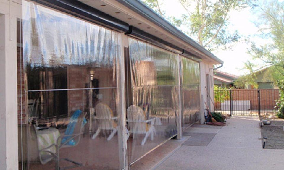 Clear Vinyl 5 Patio Enclosures Outdoor Curtains Porch Vinyl Curtains