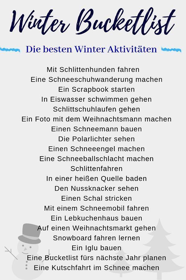 Winter Bucket List ❄ Die besten Ideen für den perfekten Winter 2020
