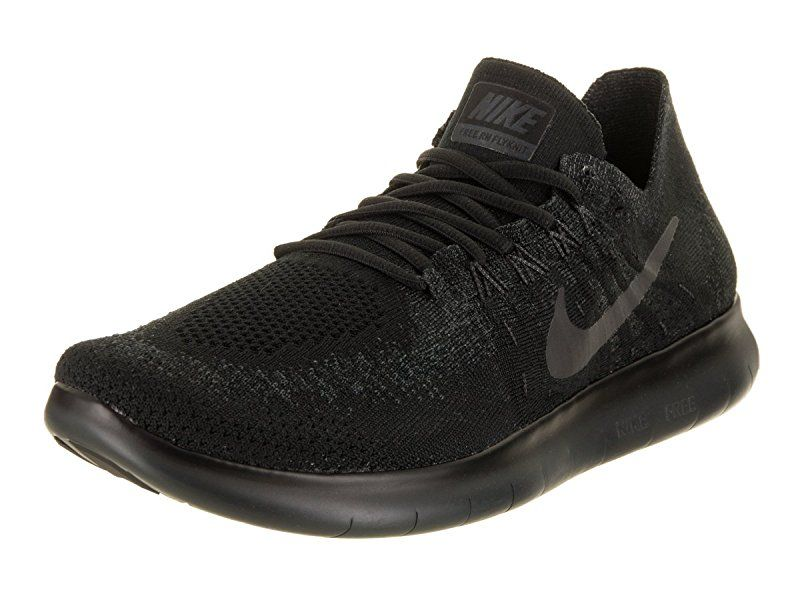 Nike Mens Free Rn Flyknit 2017 Running Shoes Black Anthracite 880843 010 Size 10 5 Road Running Black Running Shoes Nike Men Nike
