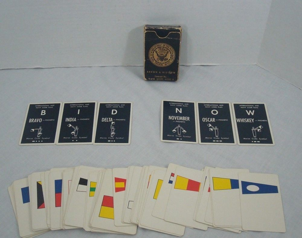 International and Navy Code Flag Flash Cards