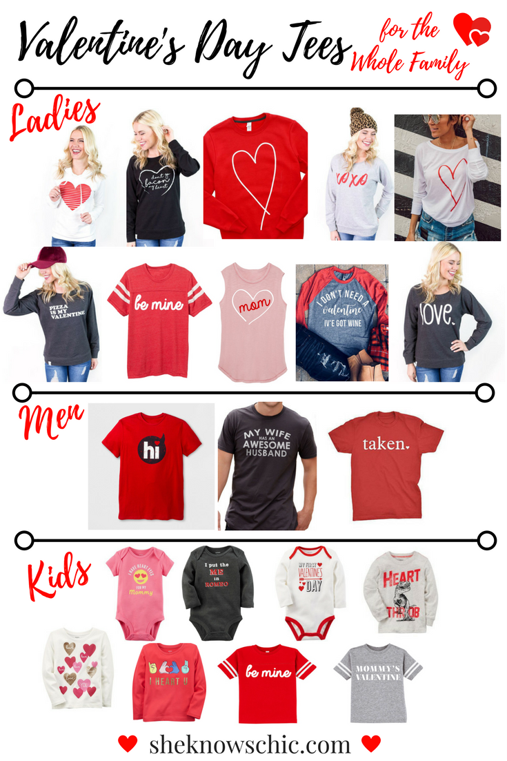 Valentine S Day Tees For The Whole Family Custom Apparel