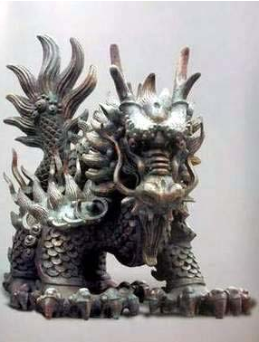 Han Meilin Dragon Sculpture... artist reference for clay dragon lesson