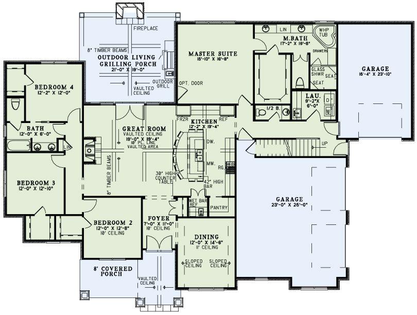2470 Sf Floor Plan Home Pinterest Timberland Cove