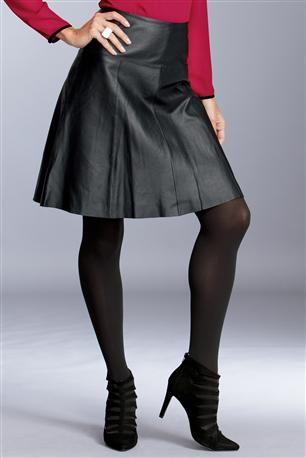 Leather-Flounce-Skirt