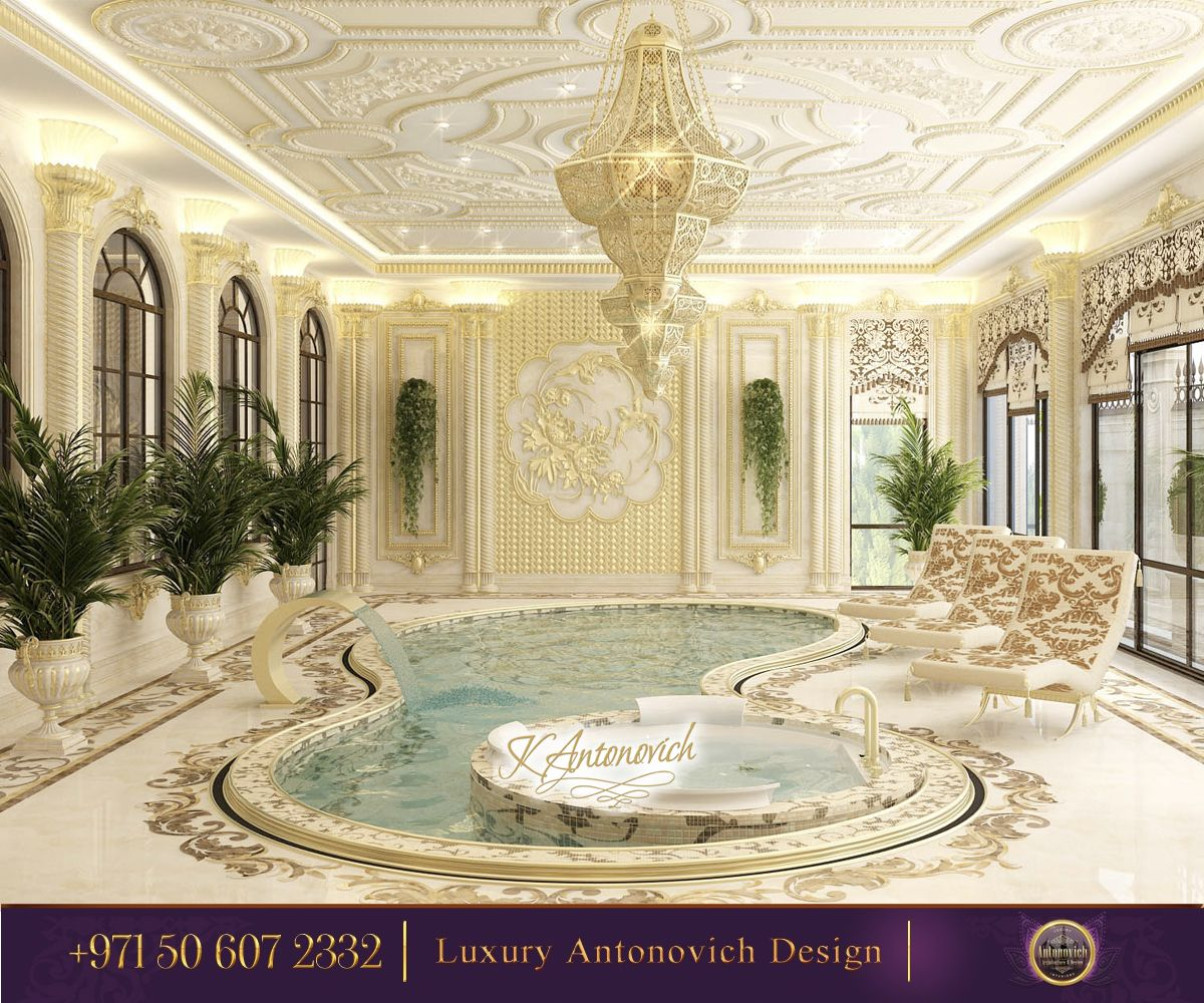 Luxury Home Indoor Swimming Pools: Pin By Luxury Antonovich Design On Luxurios SPA Zones In