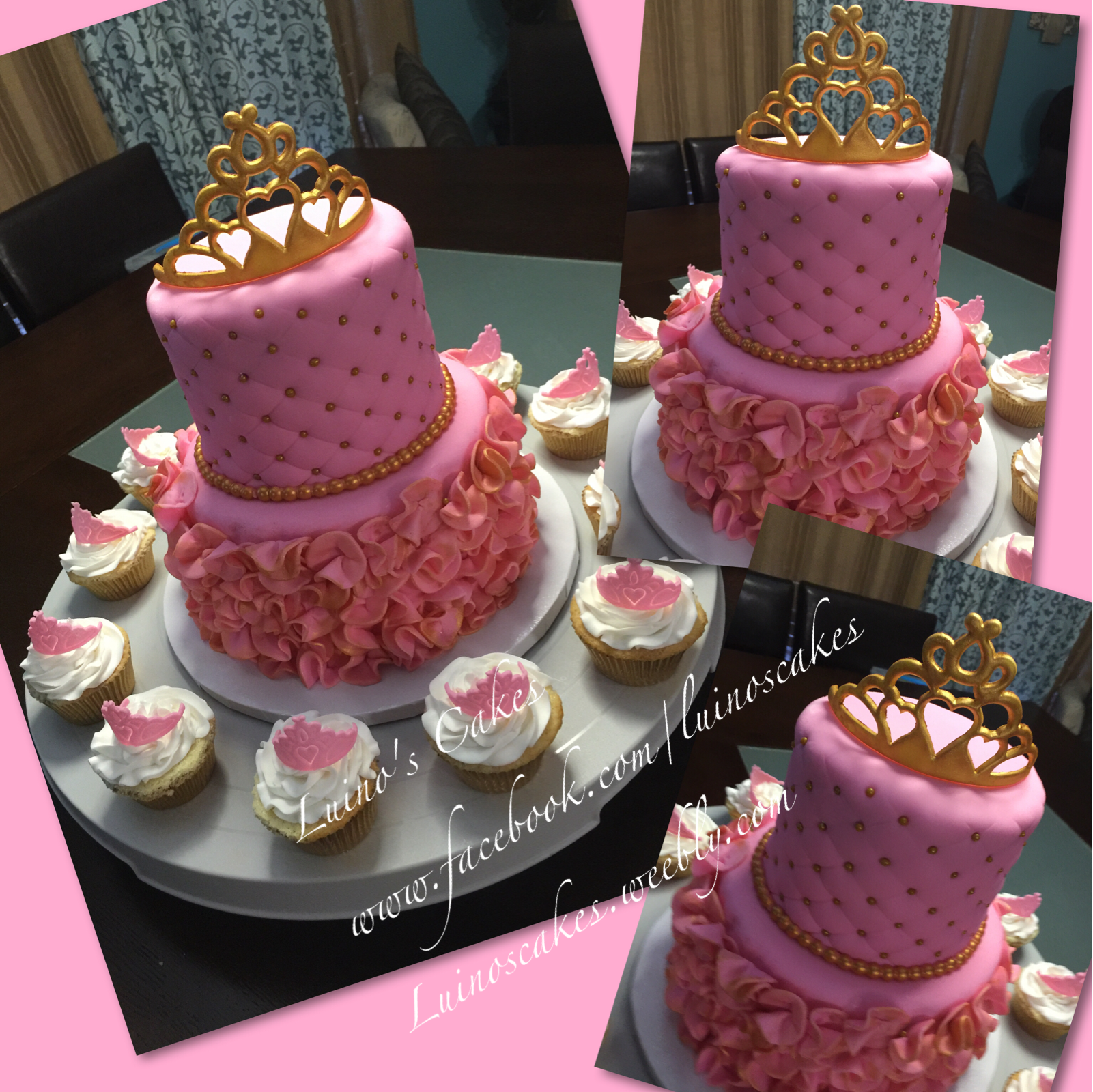 Princess pink and gold baby shower cake | Cakes | Pinterest ...