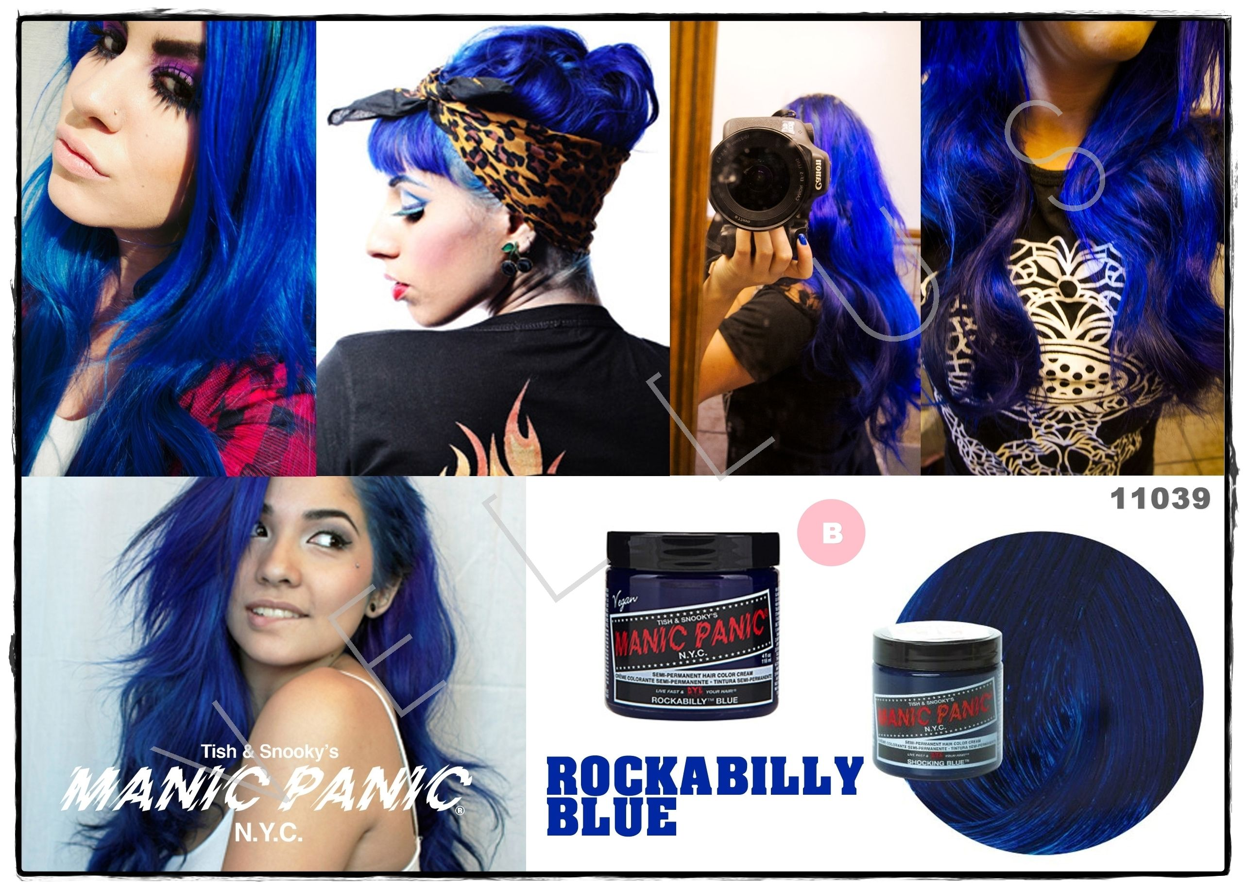 Manic Panic Classic Rockabilly Blue Vellus Hair Studio 83a Tanjong Pagar Road S 088504 Tel 62246566 Cool Hair Color Manic Panic Hair Dye Hair Color