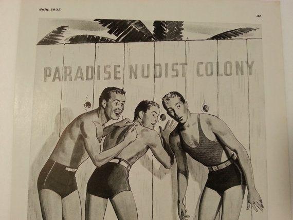 1937 Jantzen ad Nudist Colony Porky's style by AestheticTech