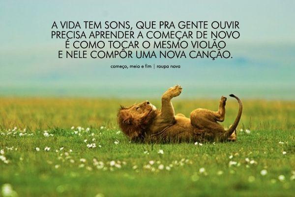 A Vida Tem Sons Que Pra Gente Com Imagens Frases