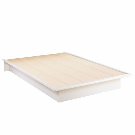 south shore full 54 inch platform bed pure white at walmartca