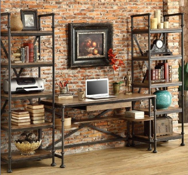 style de pays damrique fer forg industrielle en fer forg bureau bureau dordinateur bureau bureau tude tables tagres dans tables en bois de meubles