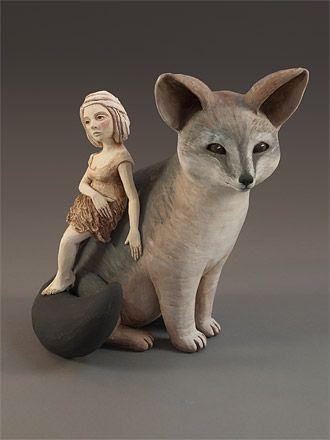 Artodyssey Crystal Morey Ceramic Sculpture Figurative Animal Sculptures Ceramic Animals