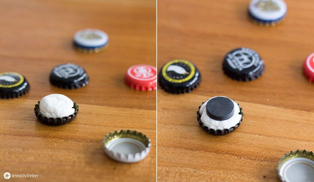 diy kronkorken magnete geschenkidee f r craft beer fans basteln pinterest kronkorken. Black Bedroom Furniture Sets. Home Design Ideas