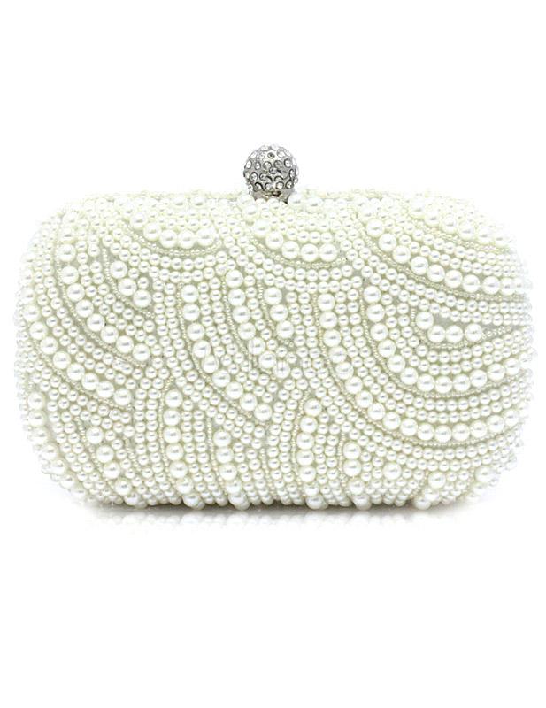 Evening Clutch Bag ,Vintage beaded handmade flower shoulder bag@Champagne with powder,Wedding Prom Handbag Purse
