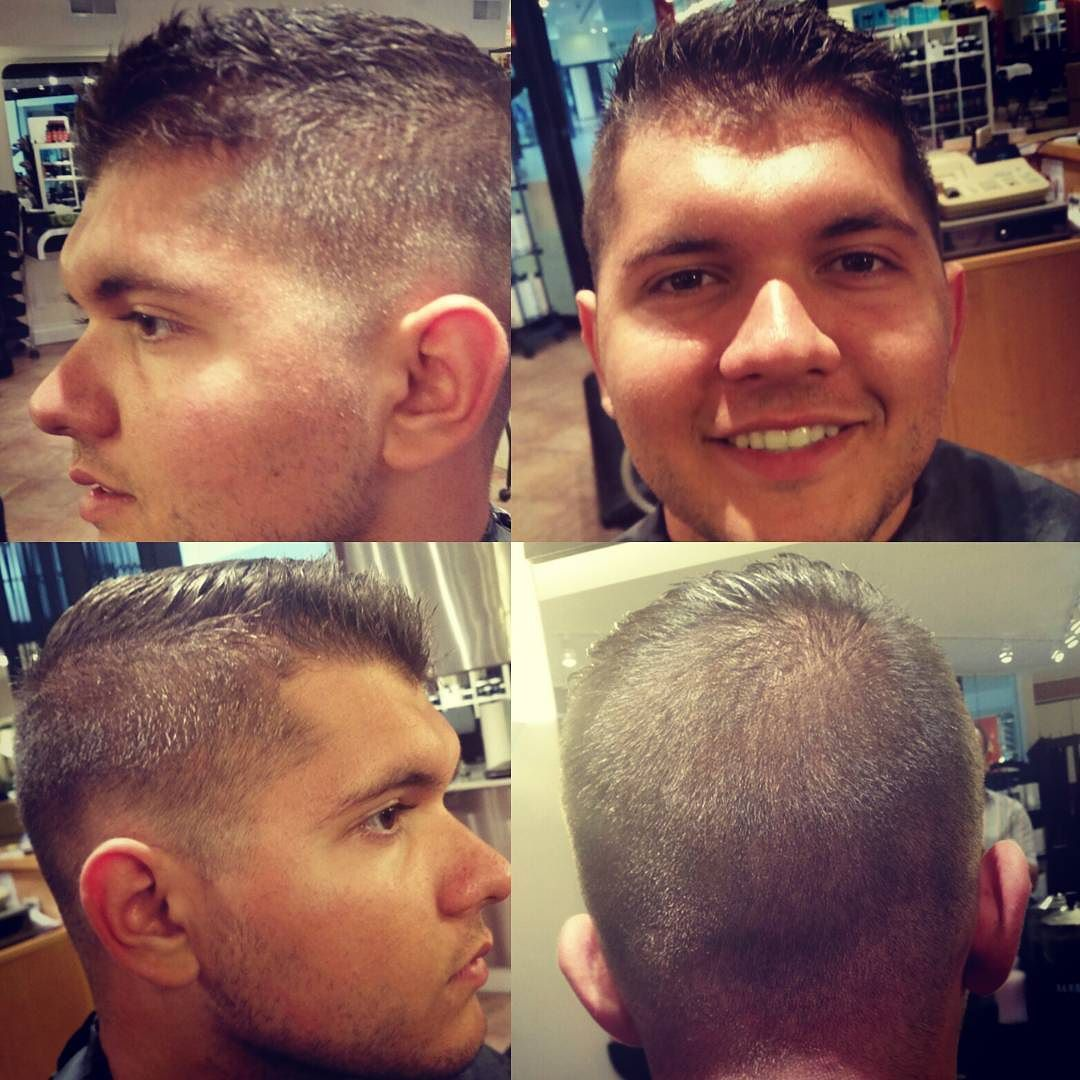 Working For Summer Faded Haircut University Student
