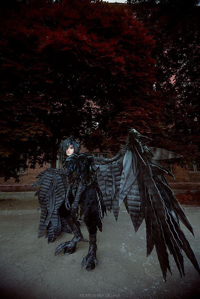 anime costume,fancy dress wings black,angel wings Miyazaki the walking castle howl