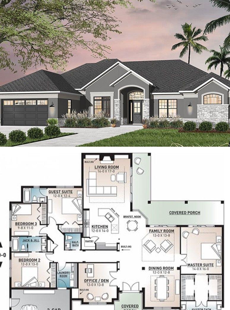 Best House Plan 4 Bedroom 3 5 Bathrooms Garage Houseplans House Plans Mansion Building Plans House Best House Plans