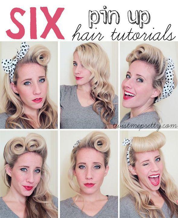 50S Hairstyles For Long Hair Tutorial   Retro účesy, Styly ...