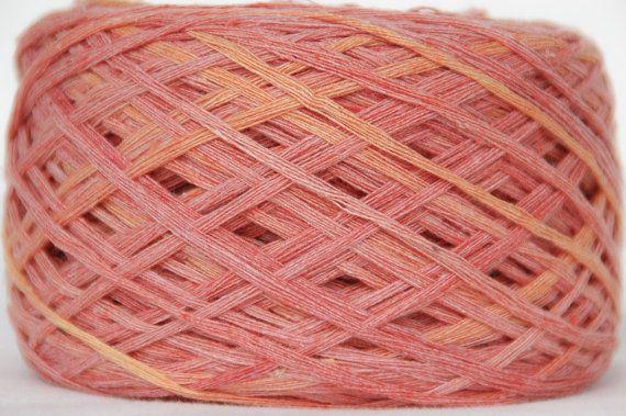 Raw Bamboo Yarn Hand Dyed 100gram / 3.5 oz Vegan by Klarabela, $10.50