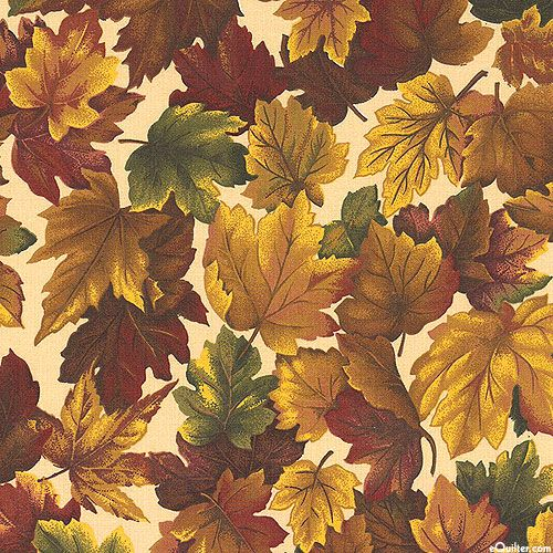 Autumn Inspirations Maple Leaf Dance Mahogany Brown