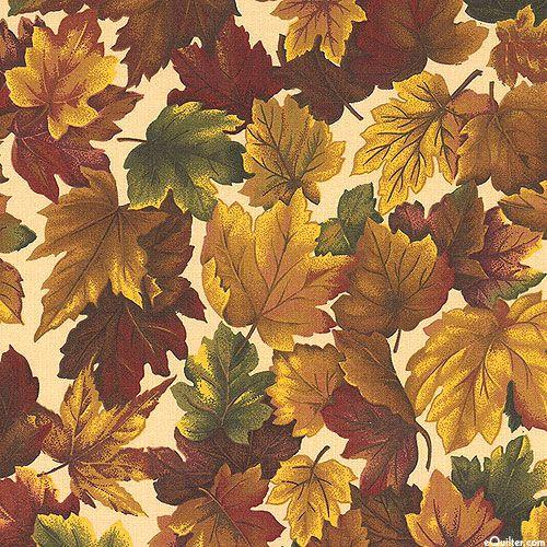Autumn Inspirations Maple Leaf Dance Mahogany Brown