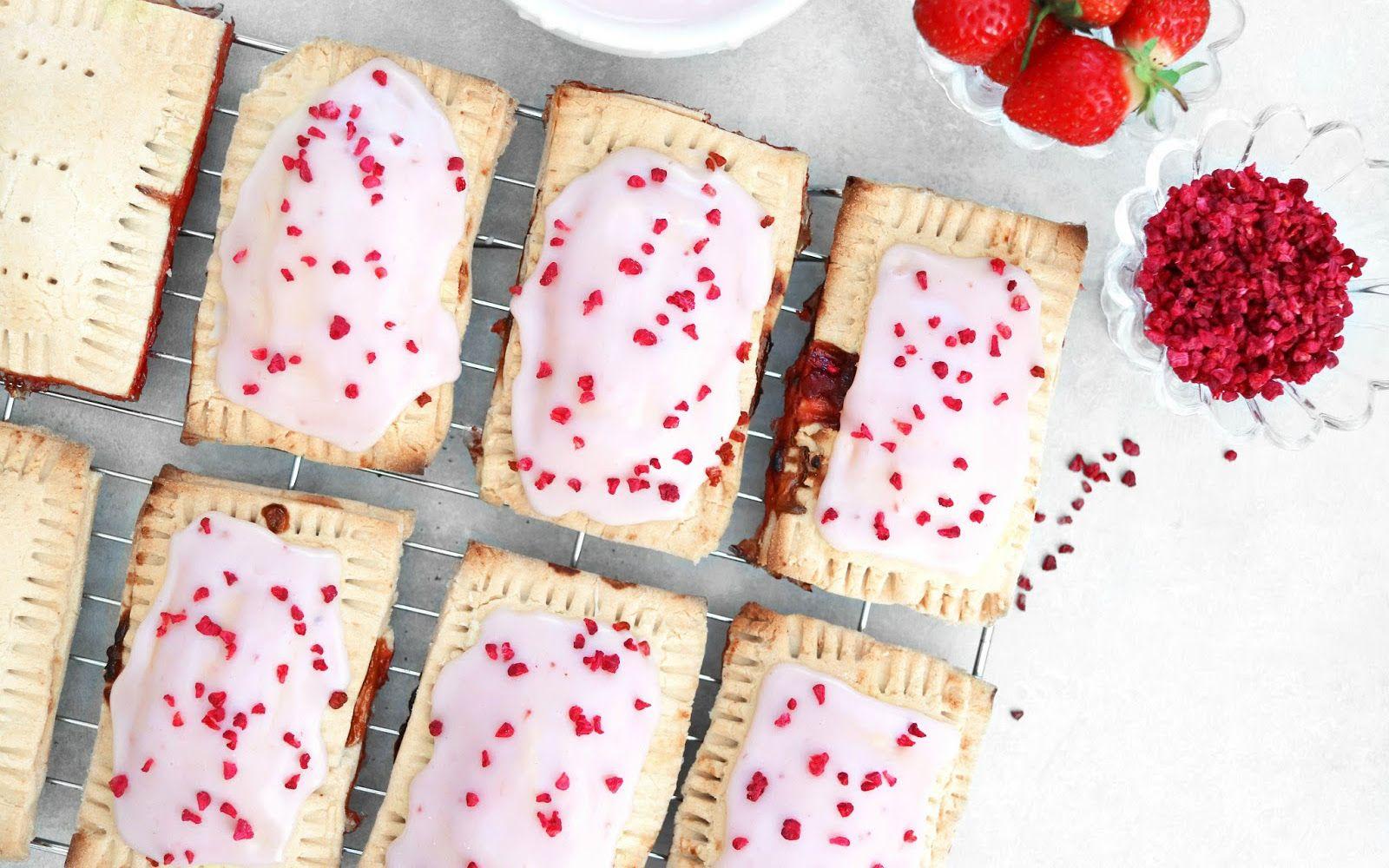 Strawberry Pop Tarts Vegan Gluten Free In 2020 Strawberry Pop