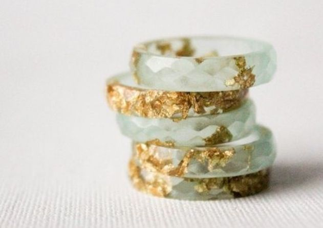 Faceted crystal gold rings  In love with these!