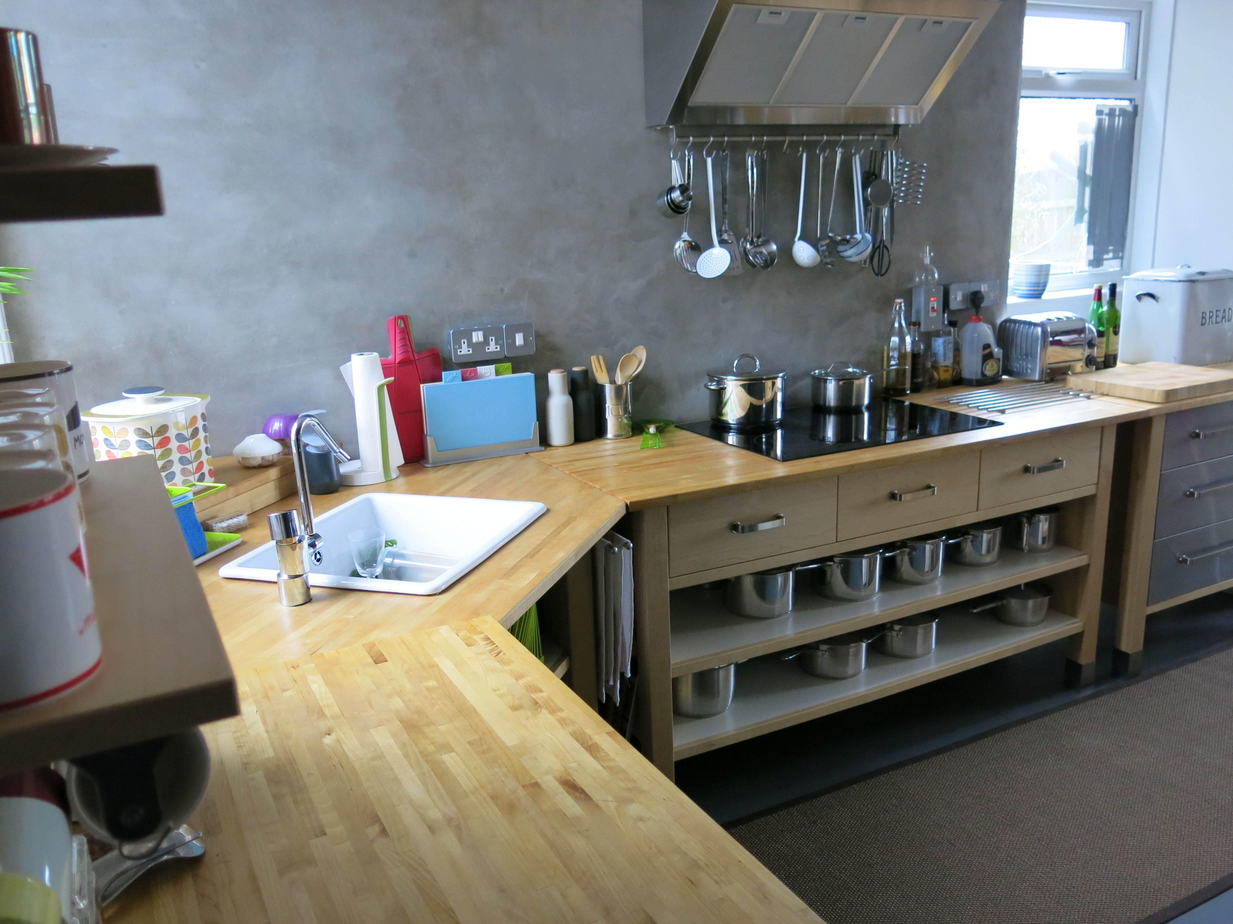 sink cut into an old ikea varde corner unit + hob cut into a varde ... - Cucina Varde Ikea