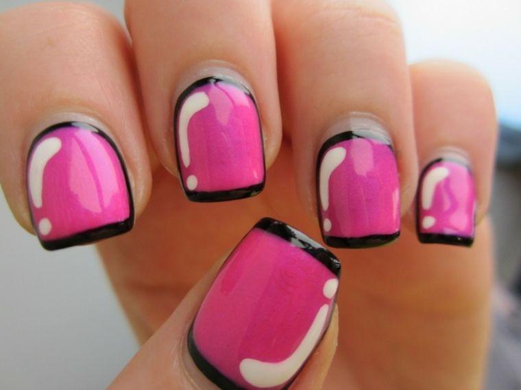 Déco ongles gel  quelles sont les tendances à suivre ? déco ongles  tendanca manucure rose blanc tendance