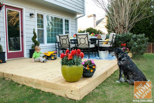 Small Patio Decorating Ideas by Kelly of View Along the Way ...