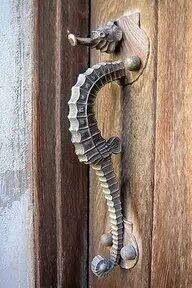 This is my kind of door handle! Seahorse door handle from Hip & Happy Home.