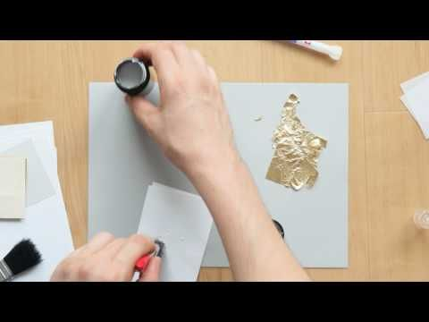 How To Use Gold Leaf What Glue Is The Best Youtube Gold Leaf Painting Gold Leaf Diy Gold Leaf