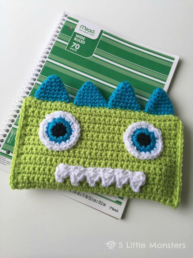 Crocheted Monster Pencil Bag | Patrón gratis, Patrones y Cartucheras