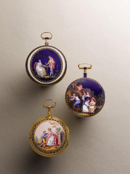 Starožitnosti: Pocket (pre 1900), Chevalier & amp;  Comp.  Vzácné & amp;  Velmi Fine Gold & amp;  Smalt VergeFusee, circa 1790. ...