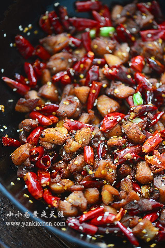 辣子鸡丁 Yankitchen Spicy Chinese Chicken Spicy Recipes Hot And Sour Soup