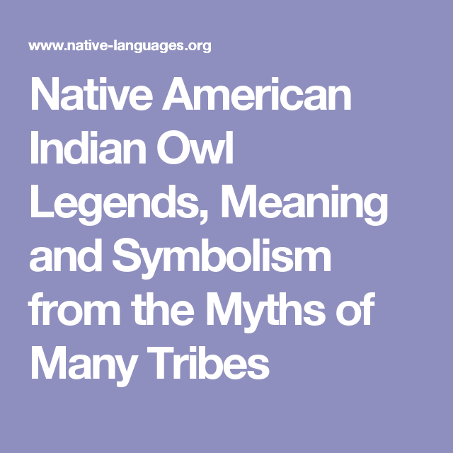 Native American Indian Owl Legends Meaning And Symbolism From The