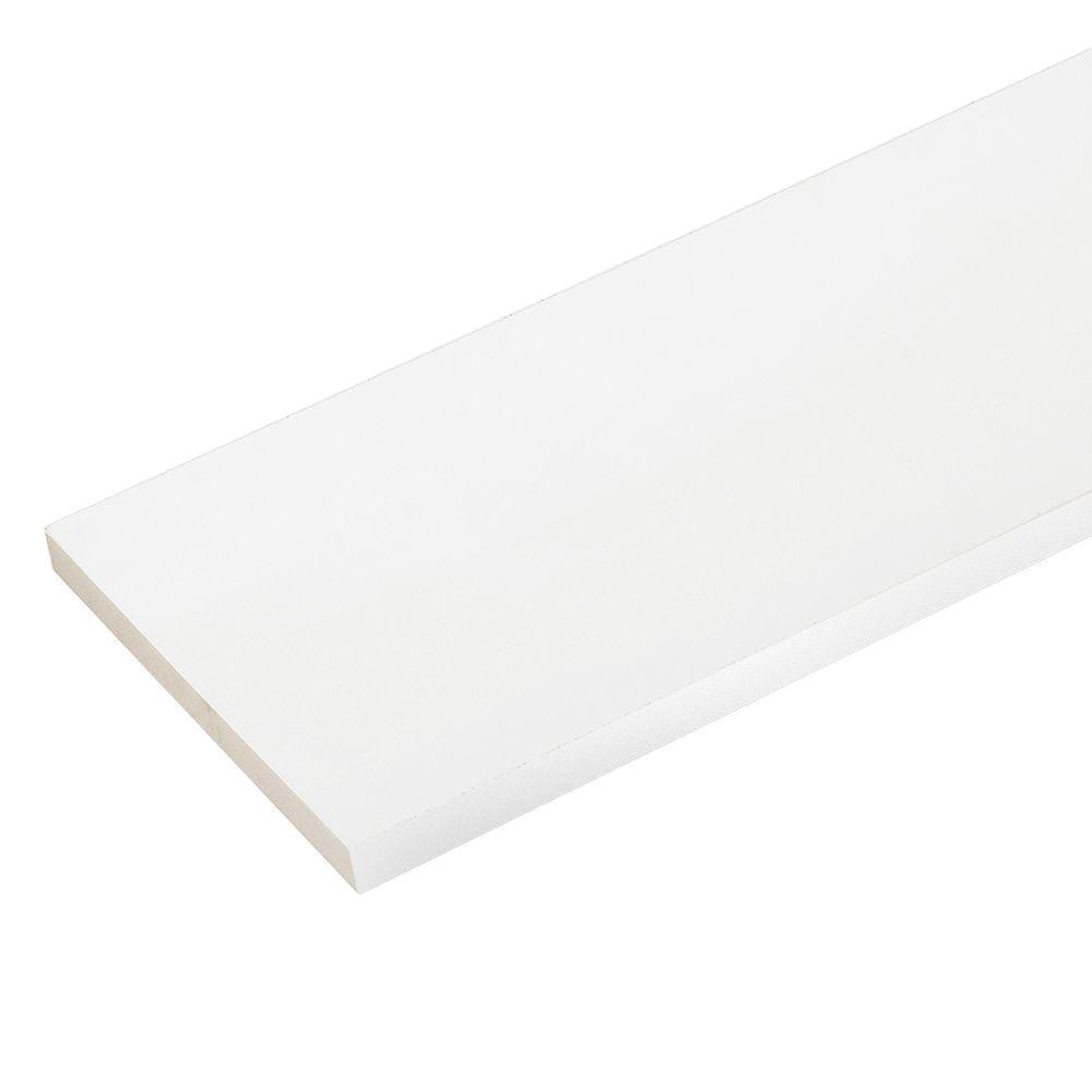 Veranda 34 in x 914 in x 8 ft white pvc trim 3pack