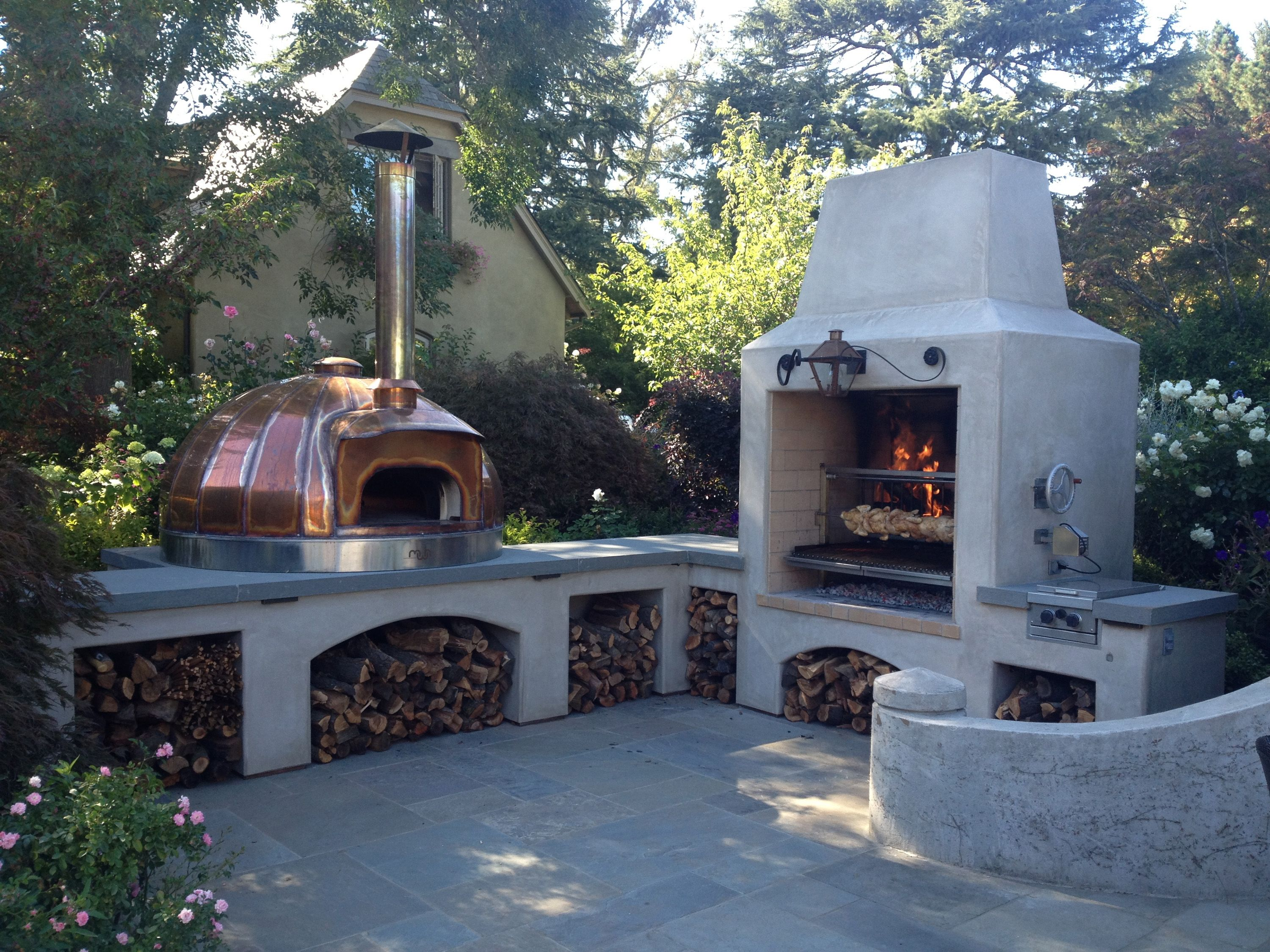 Outdoor Kitchen Le Panyol Copper Wood Fired Oven Model 120 Maine Wood Heat Co Mwh Outdoor Kitchen Diy Outdoor Kitchen Outdoor