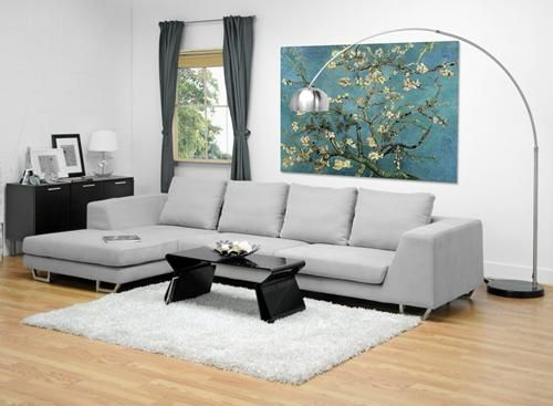 Abby Gray Twill Sectional Sofa Large Sectional Sofa Sectional Sofa With Chaise Grey