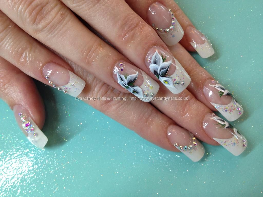One stroke freehand flower calla lily nail art over acrylic nails one stroke freehand flower calla lily nail art over acrylic nails prinsesfo Choice Image