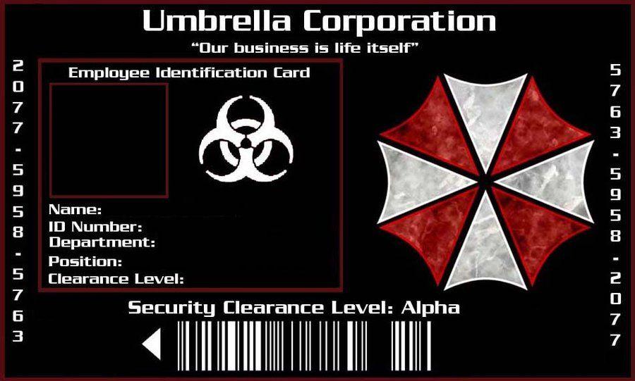 Umbrella Corporation Id By Xaphriel On Deviantart Deviantart