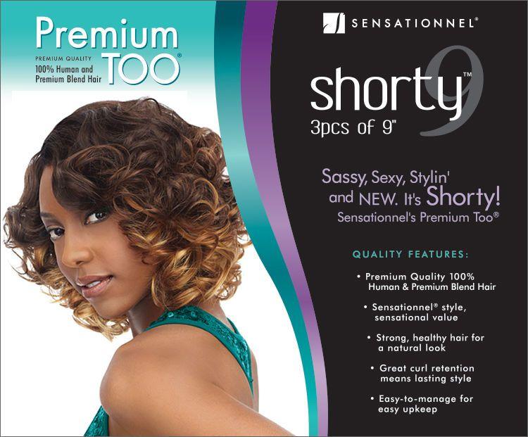 Premium Too Shorty Romance Curl 100 Human Premium Blend Hair