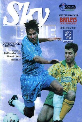 4 December 1993 v Arsenal Won 1-0