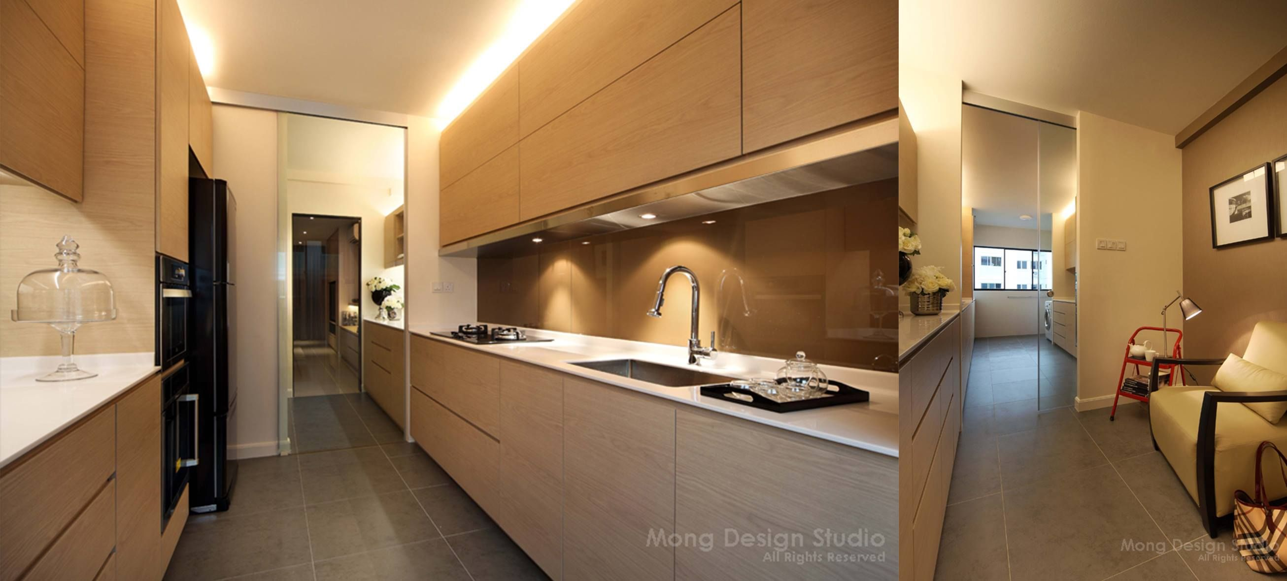 Earth color palette with brown spray paint glass backing for Earthy kitchen designs