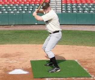 6 X 4 Green Stance Batting Mat Pro Baseball Softball Stance Baseball