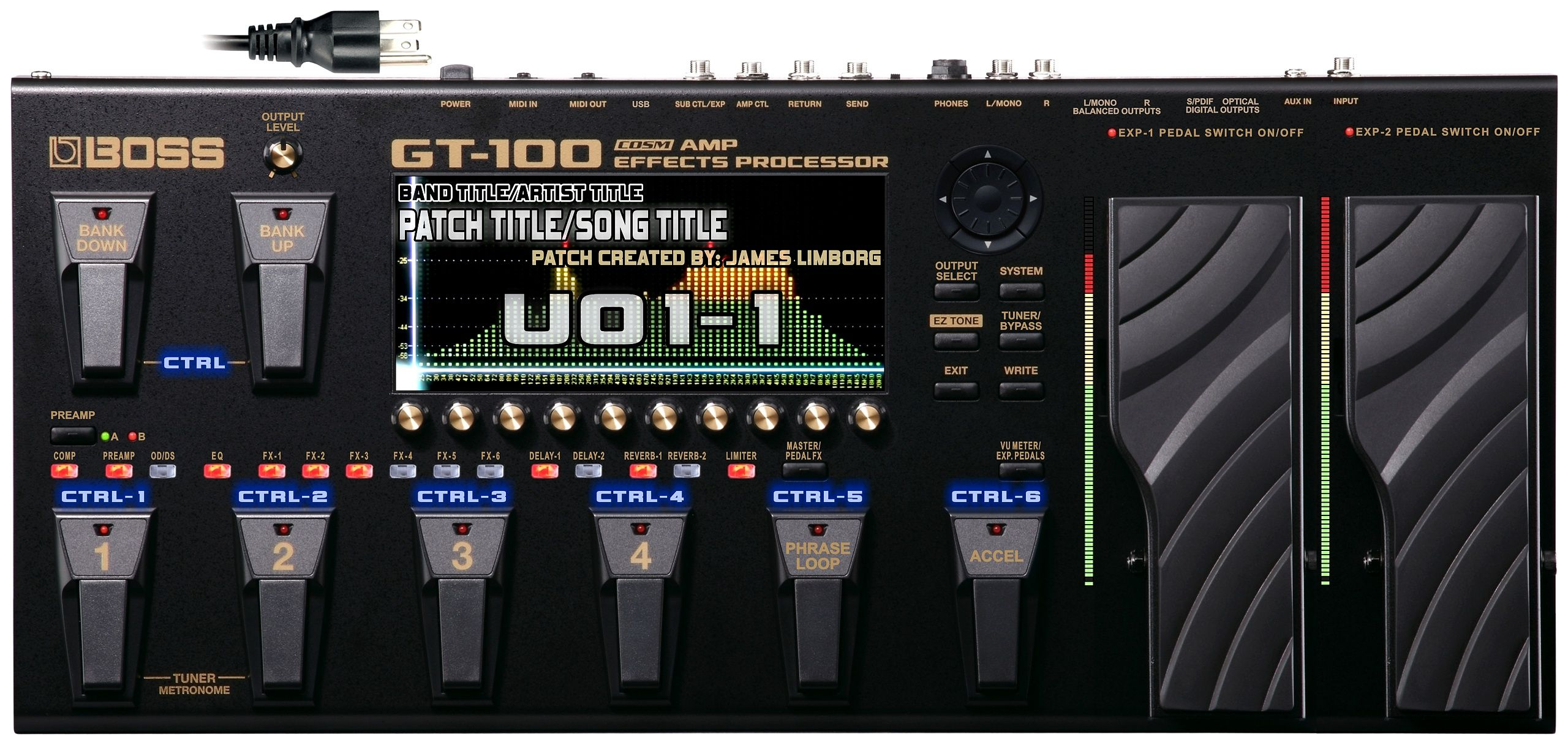 Graphic design idea by james limborg of the roland boss gt 100 graphic design idea by james limborg of the roland boss gt 100 guitar multi effects processor fandeluxe Images