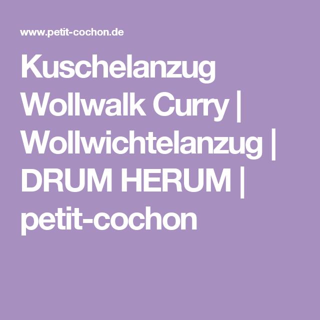 Kuschelanzug Wollwalk Curry | Wollwichtelanzug | DRUM HERUM | petit-cochon