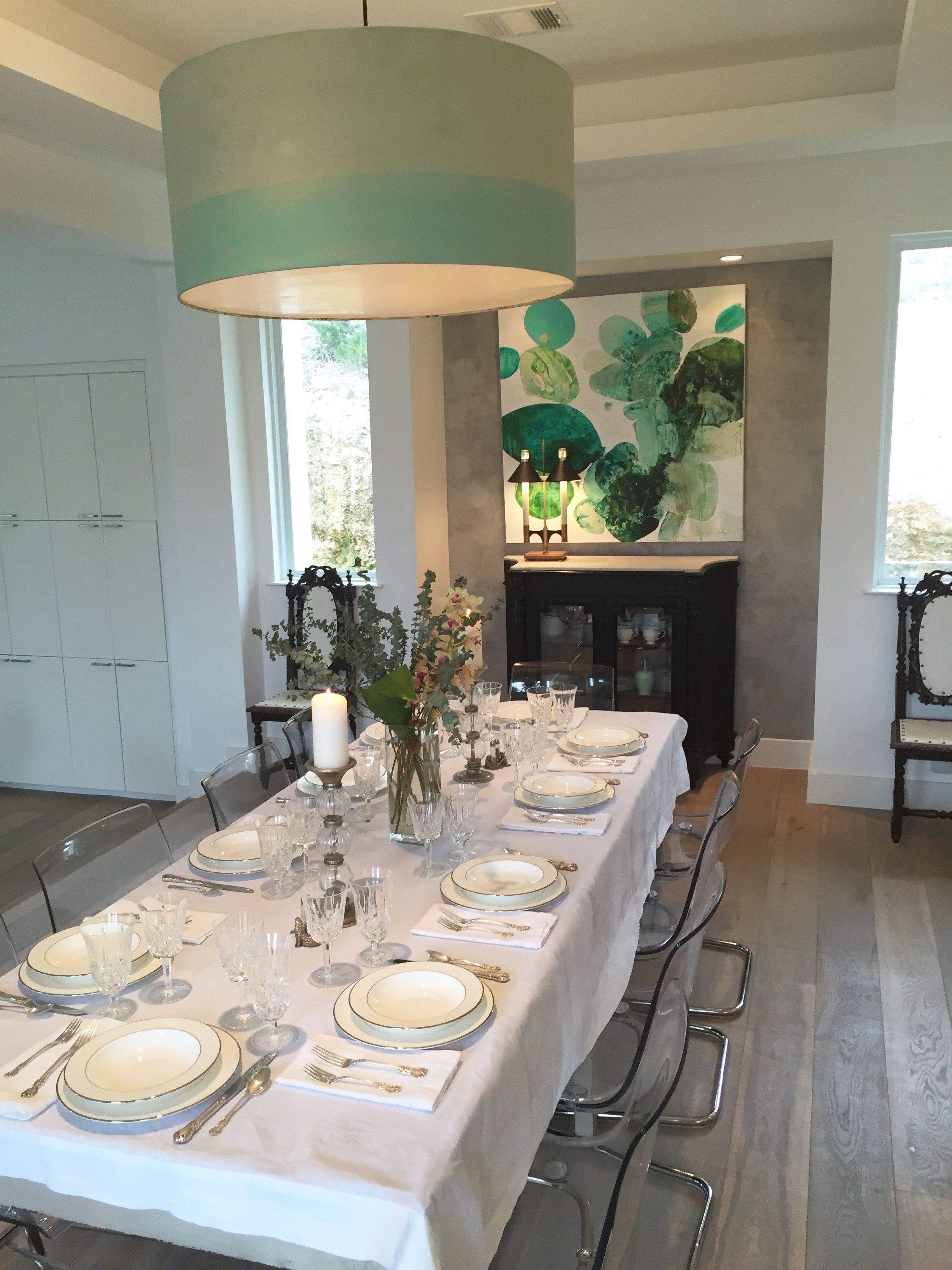meredith pardue s xel ha ii in place in this gorgeous dining room rh pinterest com