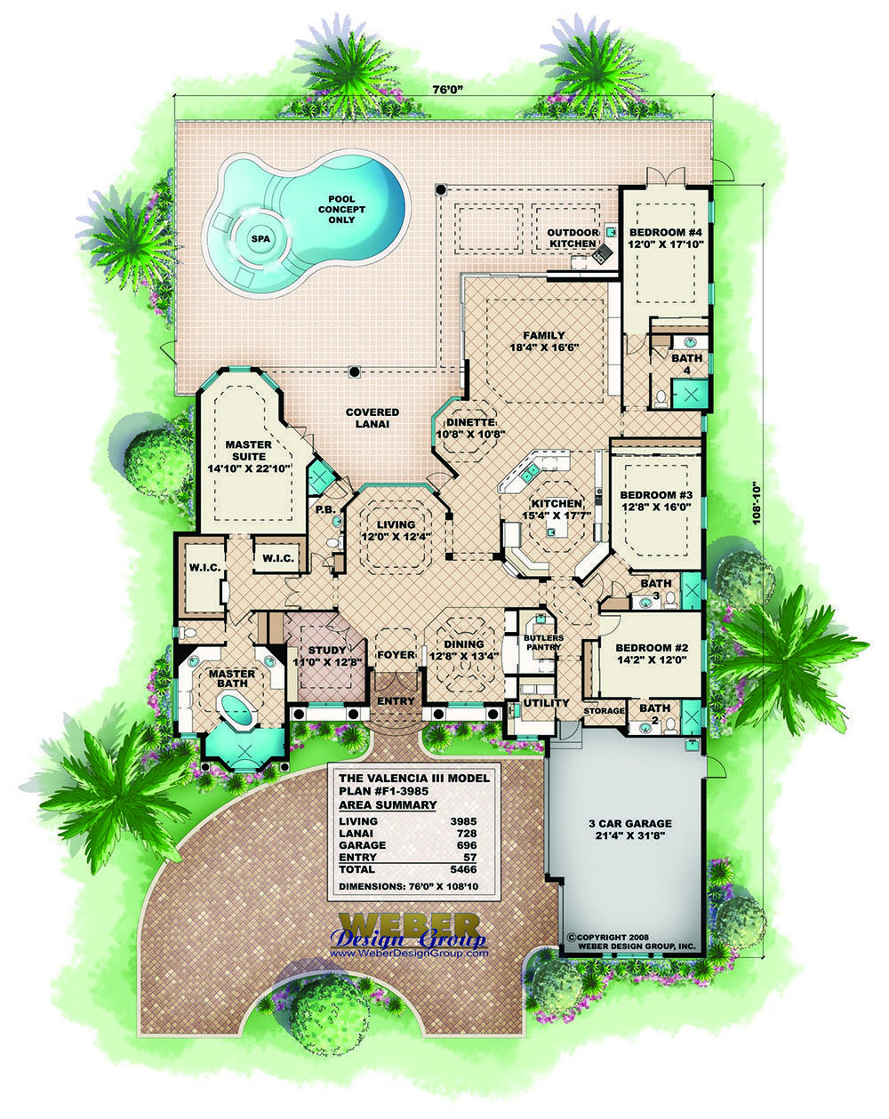 Mediterranean House Plan 1 Story Mediterranean Floor Plan With Pool Mediterranean Style House Plans Tuscan House Plans Mediterranean Floor Plans