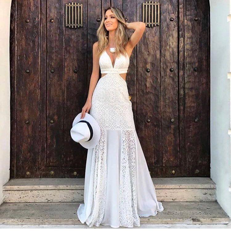 Vestido branco casual chic